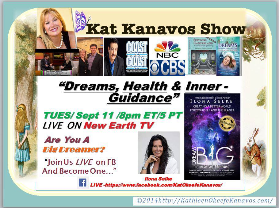 Kat Kanavos Show:  Ilona Selke author of Dream Big talks about The Power of Dreaming and Out of Body Sex