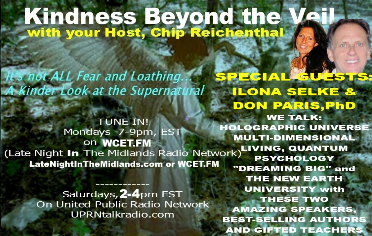 Kindness Beyond The Veil-Special Guests: Ilona Selke and Don Paris Ph.D